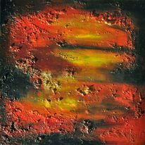 Struktur, Abstrakt, Landschaftn feuer, Pigmente