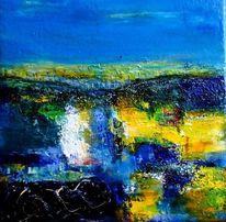 Landschaft, Abstrakt, Weite, Wetterleuchten