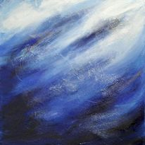 Welle, Abstrakt, Wind, Blau