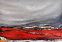 See, Acrylmalerei, Rotes meer, Modern