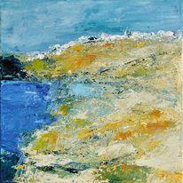 Sand, Dorf, Acrylmalerei, Meer