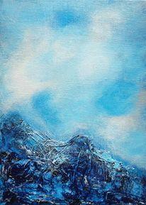 Wolken, Berge, Struktur, Stimmung
