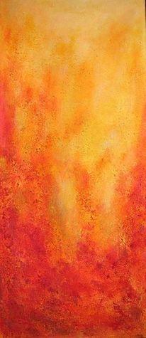 Monochrom, Glühend, Gelb, Feuer
