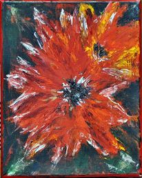 Expressionismus, Modern, Feuer, Pastos
