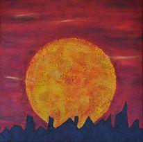 Mond, Traum, Skyline, Rund