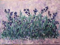 Wiese, Acrylmalerei, Blumen, Impressionismus