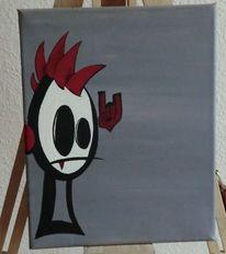 Punk rocker, Malerei
