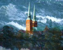 Meer, Flut, Dom, Überschwemmung