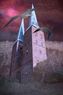 Kirche, Lübeck, Stimmung, Landschaft