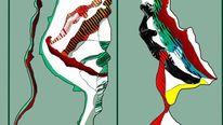 Digitale malerei, Giacometti, Abstrakt, Hommage