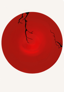 Kreis, Digitale malerei, Rot, Kreisel