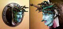 Griechisch, Medusa, Schild, Mythologie