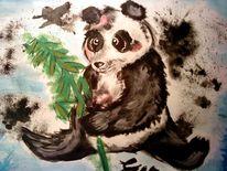 Panda, Farbkasten, Abstrakt