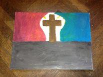 Acrylmalerei, Glaube, Malerei,