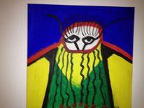 Kopftuch, Acrylmalerei, Malerei,
