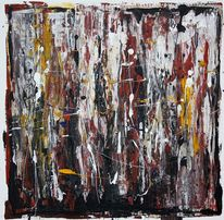 Abstrakt, Ausbruch, Acrylmalerei, Malerei
