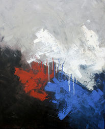 Spannung, Dreiklang, Blau, Weiß