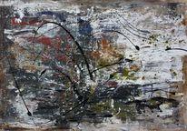 Gemälde, Intuition, Abstrakt, Acrylmalerei