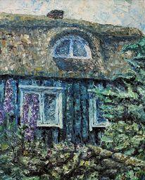 Ölmalerei, Gemälde, Haus, Schweden