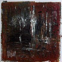 Acrylmalerei, Struktur, Malplatte, Abstrakt