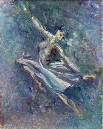 Ölmalerei, Figur, Bewegung, Tanz