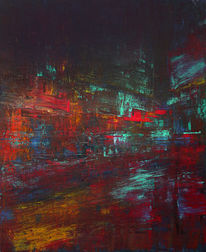Straße, Stadt, Neon, Geschwindigkeit