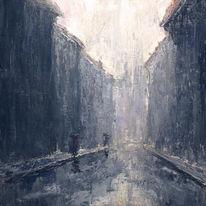 Verregnen, Regen, Spiegelung, Himmel