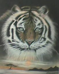 Tiger, Aquarell