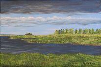 Bodden, Darß, Ostsee, Malerei