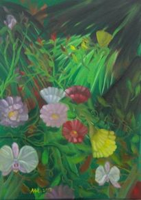 Orchidee, Blüte, Urwald, Pinsel