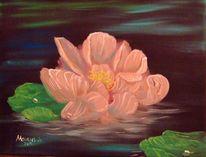 See, Rose, Blumen, Malerei