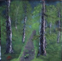 Baum, Landschaft, Weg, Wald