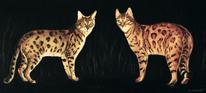 Katze tier, Malerei, Tiere, Bengal