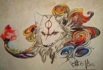 Malerei, Wolf