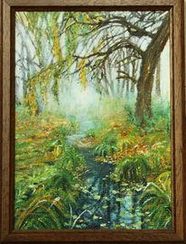 Bach, Ölmalerei, Natur, Malerei