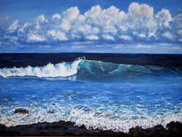 Meer, Brandung, Welle, Malerei