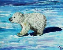 Acrylmalerei, Natur, Bär, Malerei