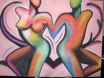 Pop art, Kreide, Liebe, Ausdruck