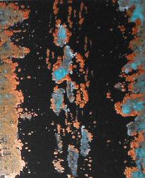 Abstrakt, Kupfer, Bewegung, Patina