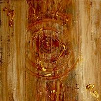 Struktur, Kreis, Gold, Rost