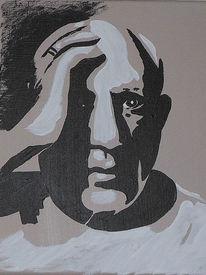 Picasso, Hommage, Popart, Acrylmalerei