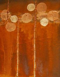 Acrylmalerei, Abstrakt, Kreis, Rost