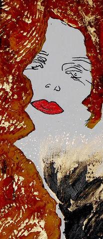 Malerei, Milva, Portrait, Rost