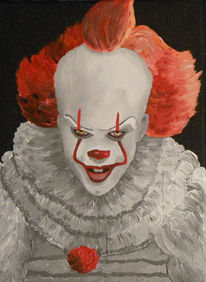 Malerei, Horror, Portrait, Clown