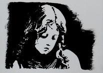 Mädchen, Acrylmalerei, Malerei