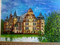 Entwendet, Malerei, Schloss,