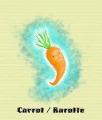 Karotte, Gimp, Mypaint, Illustration für kinder