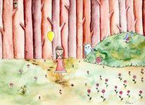 Wald, Buchillustration, Illustration, Kinder