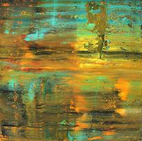 Abstrakt, Zypern, Abendstimmung, Malerei