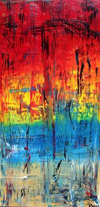 Abstrakt, Ölmalerei, Bunt, Malerei
